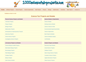 1000sciencefairprojects.com
