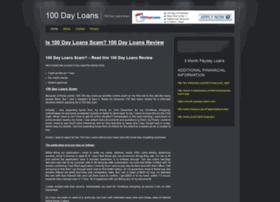 100dayloansscam.com