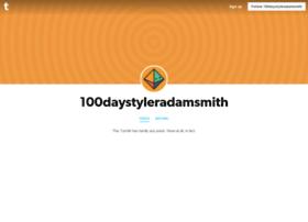 100daystyleradamsmith.tumblr.com