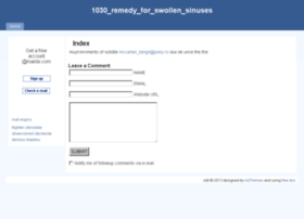 1030_remedy_for_swollen_sinuses.istii.ro