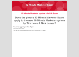 10minutemarketerscam.com