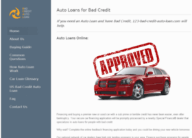123-bad-credit-auto-loan.com