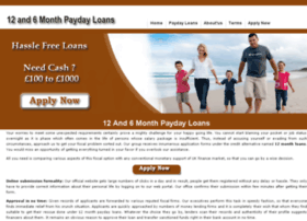 12and6monthpaydayloans.co.uk