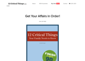 12criticalthings.com