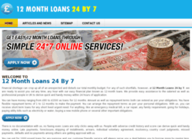 12monthloans24by7.co.uk