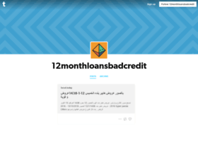 12monthloansbadcredit.tumblr.com