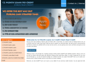 12monthloansnocreditcheckbadcredit.co.uk
