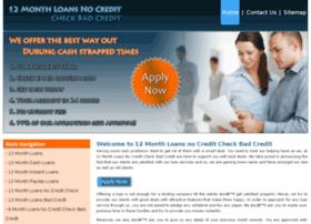 12monthloansnocreditcheckbadcredit.co.uk