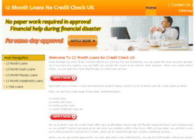 12monthloansnocreditcheckuk.co.uk