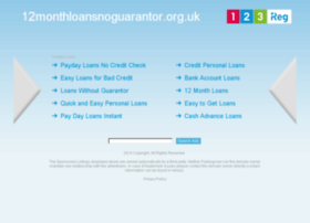 12monthloansnoguarantor.org.uk