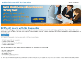12monthloanswithnoguarantor.co.uk