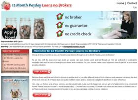 12monthpaydayloansnobrokers.co.uk