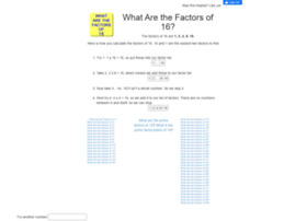 16.what-are-the-factors.com
