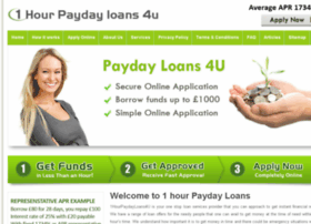 1hourpaydayloans4u.co.uk