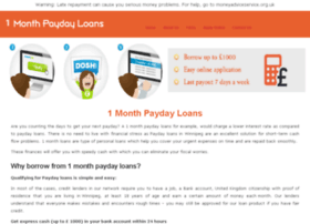 1monthpaydayloans.co.uk