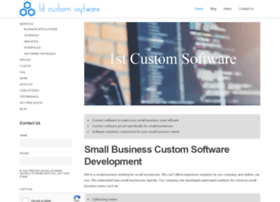 1stcustomsoftware.com