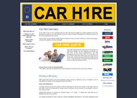1stforcarhiregermany.com