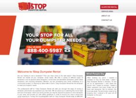 1stopdumpsterrental.com