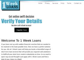 1weekloans.com