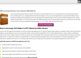 2003.exchangerecoverymailbox.com