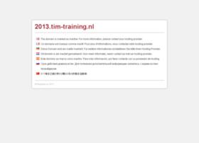 2013.tim-training.nl