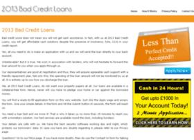 2013badcreditloans.co.uk