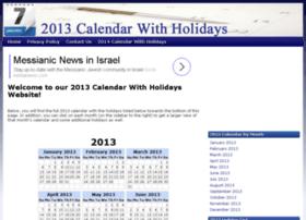 2013calendarwithholidays.org
