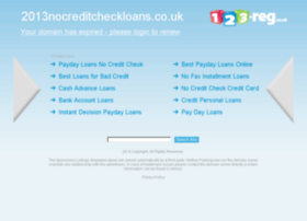 2013nocreditcheckloans.co.uk