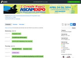2014ascapexpo.sched.org