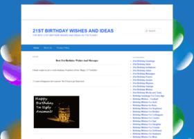 21stbirthdaywishes.net