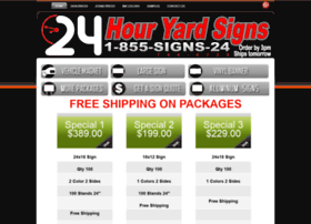 24houryardsigns.com