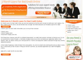 3monthloansforbadcreditonline.co.uk