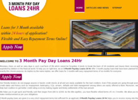 3monthpaydayloans24hr.co.uk