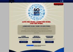40daysintheword.com