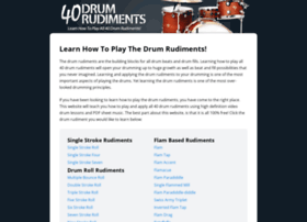 40drumrudiments.com