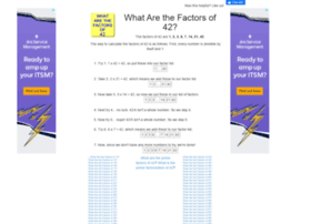 42.what-are-the-factors.com