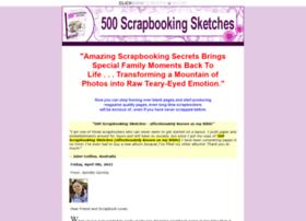 500scrapbookingsketches.com
