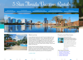 5starfloridavacationrentals.com