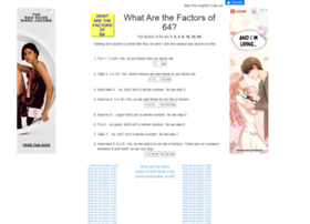 64.what-are-the-factors.com
