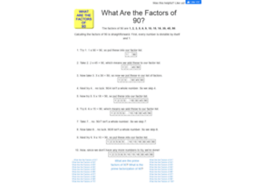 90.what-are-the-factors.com