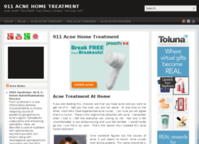 911acnehometreatment.com