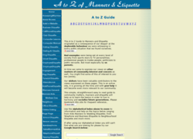 a-to-z-of-manners-and-etiquette.com