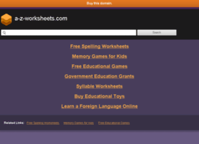 a-z-worksheets.com