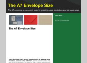 a7envelopesize.com