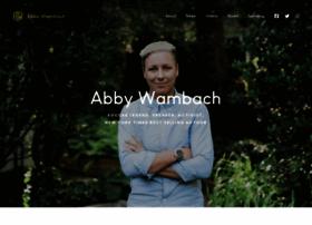 abbywambach.com