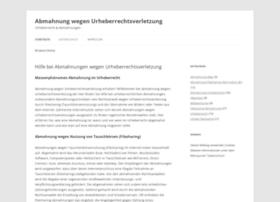 abmahnung-wegen-urheberrechtsverletzung.de