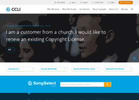 aboutsongselect.ccli.com