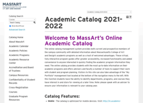 academic-catalog.massart.edu