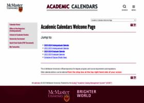 academiccalendars.romcmaster.ca