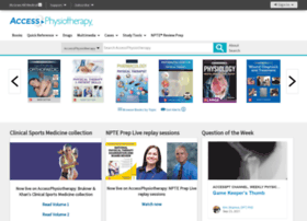 accessphysiotherapy.mhmedical.com